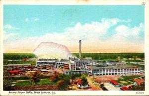 Louisiana West Monroe Brown Paper Mills 1943 Curteich