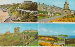 Scarborough Gardens Floral Clock Tower 4x 1970s Postcard s