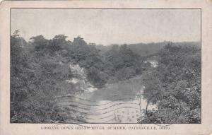 Looking down Grand River,  Summer,  Painesville, Ohio,   PU-1911