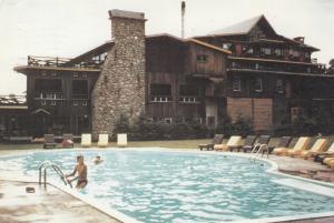 ST. DONAT, Quebec, Canada, PU-1986; Auberge St-Donat le mont La Reserve, swim...