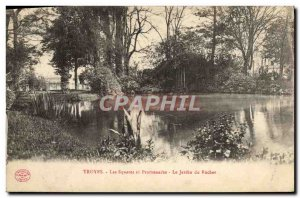 Old Postcard Troyes Squares and Promenades Le Jardin du Rocher