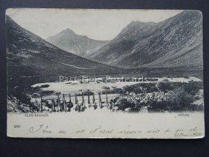Scotland Arran GLEN SANNOX c1903 UB Postcard to Harry Welch of Lewick Shetland