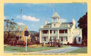 Sunbury Pennsylvania Fort Augusta Replica Vintage Postcard K92309