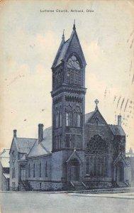 Lutheran Church, Ashland, Ohio 1909 Ricker & Roelle Vintage Postcard