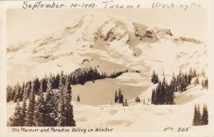 RP: TACOMA, WA, 30-40s: Mt. Rainier & Paradise Valley in Winter, Ellis #565