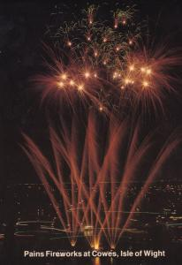 Pains Fireworks Display at Isle Of Wight Limited Edition Postcard