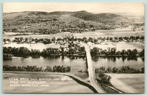 South Deerfield MA~Vw of Sunderland Bridge Before Remodeling~Mt Sugarloaf 1940s