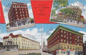 Four Fine Leon A. Deglman Hotels in Michigan, PU-1949