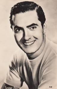 Tyrone Power Vintage Photo Postcard