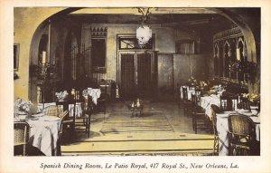 Spanish Dining Room, New Orleans, Louisiana, Early Postcard, Unused