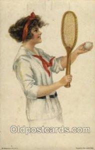 Edward Gross Co., N.Y., USA Artist Alice Fidler Tennis Unused