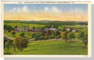 Charlottesville, Virginia/VA Postcard,Blue Ridge Sanatorium
