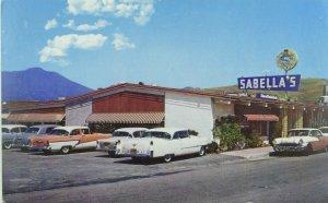 C.1950 Cars, Sabella's, Redwood Highway, Mill Valley, Cali. Vintage Postcard P69