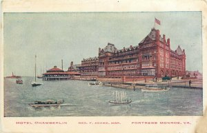 Hotel Chamberlin Fortress Monroe Virginia VA pm Postcard