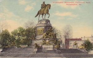 Pennslyvania Philadelphia Washington Monument Fairmount Park 1912