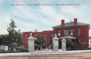 New York Buffalo Entrance Of Buffalo Cemetery At Pine Hill BIanchi & Abbiata ...