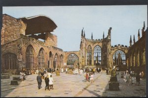 Warwickshire Postcard - Coventry Cathedral - The Ruins From The Foot of The T...