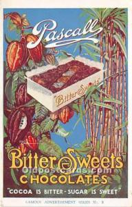 Advertising Postcard - Old Vintage Antique Pascall Bitter Sweets Chocolates U...