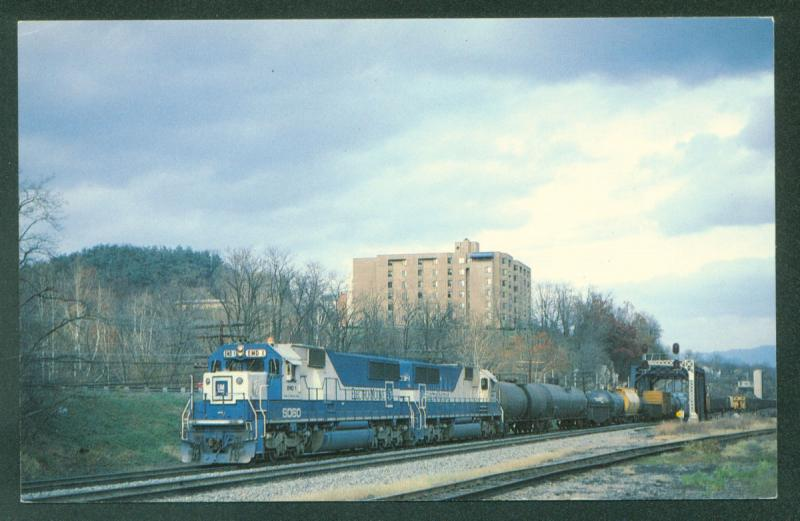 Demonstrators EMD Chessie Freight Train Clifton Forge Virginia Railroad Postcard