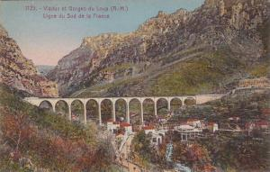 Viaduc Et Gorges Du Loup, Ligne Du Sud De La France, Alpes Maritimes, France,...