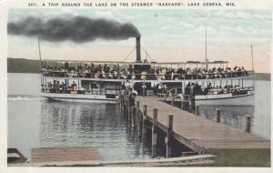 LAKE GENEVA, Wisconsin, 1900-10s ; Steamer HAVARD at dock