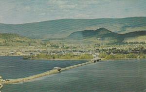 Aerial View, Floating Bridge, Okanagan Lake, KELOWNA, British Columbia, Canad...