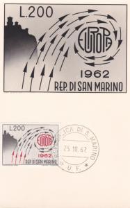 Maximum Card from the  Republic of  SAN MARINO , 1962