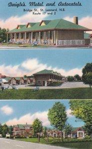 ST. LEONARD , New Brunswick , Canada , 1950-60s ; Daigle's Motel