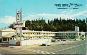 Prince George Travelodge Prince George BC Dominion St. UNUSED Postcard D95