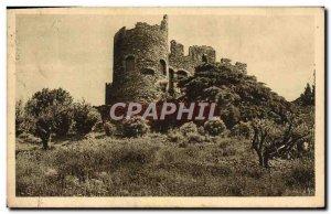 Old Postcard From Around Lavandou Bormes les Mimosa Le Vieux Chateau