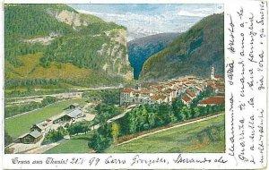 Ansichtskarten Schweiz VINTAGE POSTCARD: SWITZERLAND - GRUSS AUS: THUSIS 1899