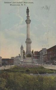 New York Watertown Soldiers And Sailors Monument