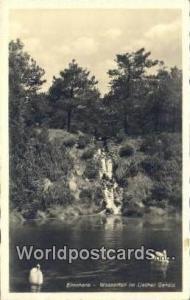Elmshorn Germany, Deutschland Postcard Wasserfall im Liether Geholz Elmshorn ...