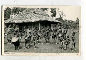3147509 UGANDA CONGO Nude Pigmies Vintage photo postcard