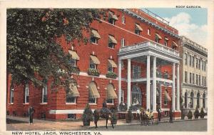 D71/ Winchester Virginia Va Postcard c1910 New Hotel Jack Building