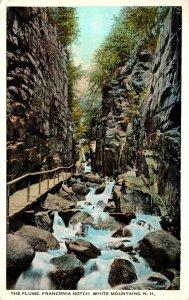 New Hampshire White Mountains Franconia Notch The Flume 1924