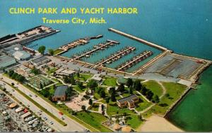 Michigan Traverse City Aerial View Clinch Park and Yacht Harbor