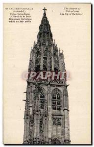 Old Postcard Caudebec en Caux Eglise Notre Dame High Tower