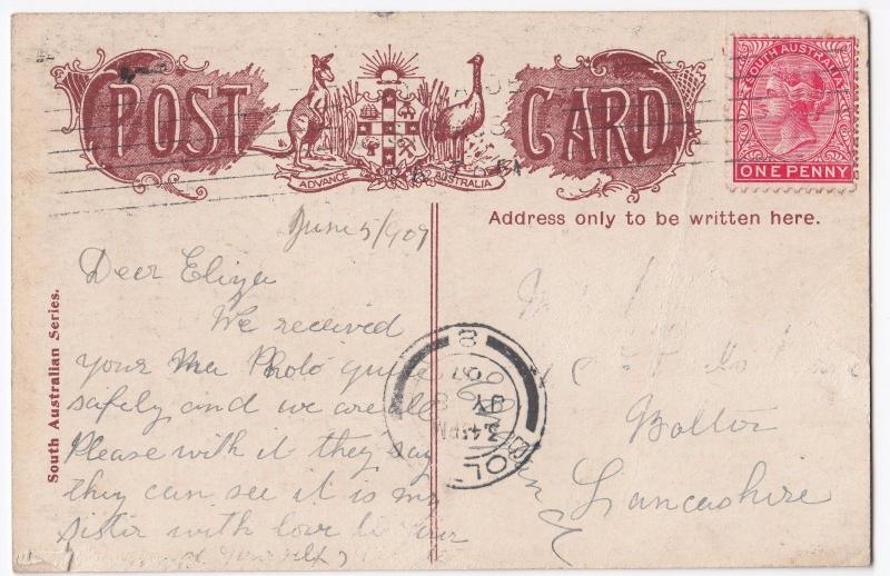 Australia; Wool Stores PPC, Adelaide PMK 1907 From South Australian Series