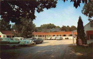 Miller Motel Cars Watkins Glen New York 1950s postcard