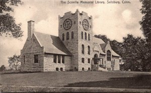 Connecticut Salisbury Scoville Memorial Library Rotograph