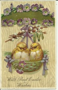 With Best Easter Wishes Chicks