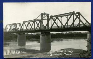Brownsville Texas tx International Bridge real photo postcard RPPC