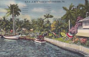 A Bit Of Venice At Fort Lauderdale Florida 1954
