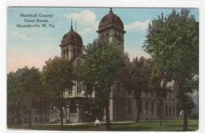 Court House Moundsville West Virginia 1917 postcard