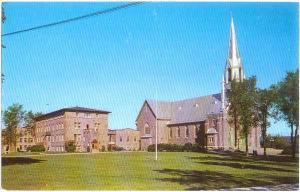 La Cathedrale, L'Archevache et l'Hospice, Mont-Laurier, Quebec, Canada, Chrome