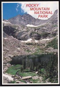 Colorado Rocky Mountain National Park Black Lake and McHenrys Peak