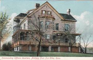 Kansas Fort Riley Commanding Officers Quarters Artillery Post 1908