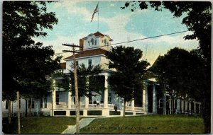 Bay View, Michigan Postcard THE BAY VIEW HOUSE Hotel Building View c1910s Unused