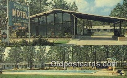 Folkston Motel Ga Usa Hotel Postcard Post Card Old Vintage